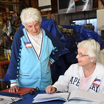 ANNE NEBORAK-DIGITAL FIRST MEDIA Carmella Strano, Judge of Elections loks at the Books with Ellen Morrisroe Majority Clerk as they wait for voters in Norwood at the polling place 105 Trites  ...